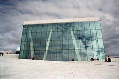 Oslo Opera House (ylvabaardseng) Tags: sky reflection film oslo norway architecture analog norge nikon opera snøhetta nikonf601 oslooperahouse visitoslo