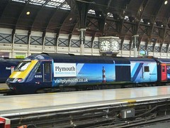 43163 in 'Visit Plymouth' livery (Richard and Gill) Tags: train diesel plymouth paddington locomotive britishrail branding firstgreatwestern intercity hst gwr greatwesternrailway highspeedtrain class43 intercity125 fgw 43163 powercar britainsoceancity