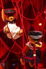 Teddy bears hanging (NykO18) Tags: bear paris france animal shop mammal store europe îledefrance puppet business manmade prada galerieslafayette