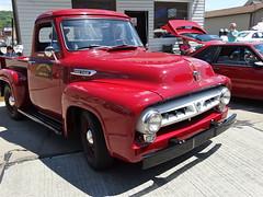 Yesterday's Ride | 1953 | Ford F100 Pickup (e r j k . a m e r j k a) Tags: red classic cars ford truck ride pennsylvania pickup f100 curb 1953 coraopolis erjkprunczyk