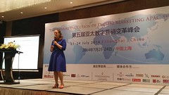 Sofie Sandell speaking about Digital Leadership in Shanghai, China.