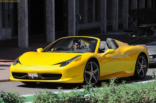 yellow monaco exotic supercar 2012 topmarques ferrari458spider