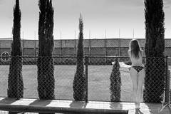 American Glow (Carlos M.C.) Tags: trees house green water pool grass yard fence mexico model top less cuautla morelos