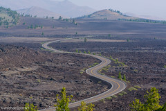 Road Through Craters of the Moon (Michael J Porter) Tags: flowers usa moon stars lava idaho caves cratersofthemoon riftvalley