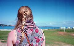 flowers in her hair (djibouticall) Tags: film analog kodak croatia jupiter12 analogue adriatic istria kiev4a premantura jupiter123528 ektar100