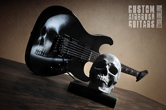 Custom Skull Airbrush Guitar (MattBott) Tags: skull guitar airbrush