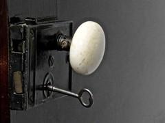 White Knob (2bmolar) Tags: old white antique doorknob skeletonkey odc closetdoor
