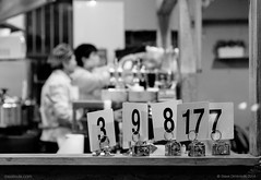 Numbers Up (mestevie) Tags: street blackandwhite food kitchen restaurant cafe fuji diner eat numbers waters hungry cooks chefs xt1