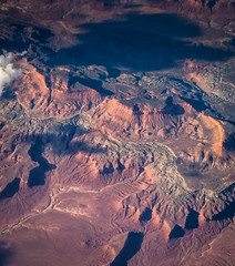 Aerial view of Canyon lands over Utah (mbell1975) Tags: usa mountain mountains america landscape utah us view unitedstates desert over canyon aerial lands range
