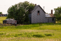 Old Gray House (nikons4me) Tags: old house abandoned overgrown southdakota weeds decay shed smalltown decaying tallgrass okaton sonynex7 sonye55210mmf4563oss