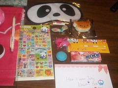 close up 2 (Amane-chan) Tags: japan japanese march strawberry panda candy drink box no c treats stickers machine macaroon koala kawaii plushie sweets boxes z snacks vending premium dragonball boxs plushy ichigo subscription genki rilakkuma umaibo dbz oyatsu hichew koikeya montly dekavita kawaiibox scon oyatsubox