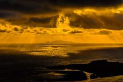 Foula.... (ah.burgess) Tags: uk sunset sea colour reflection love home island coast scotland exposure dramatic northsea gb shetland foula