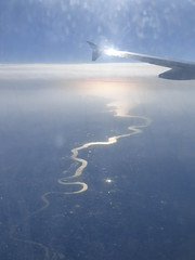 Sweet Thames flow softly... (seikinsou) Tags: ireland summer reflection window thames river airport midsummer view seat aeroplane mid aerlingus westmeath
