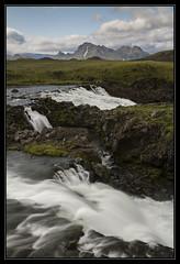 Icelandic Falls (Explored) (RattyBoots) Tags: mountain canon volcano waterfall iceland laugavegur 7d canon24105 storkonufell
