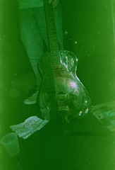 wall-eyed bloody steel guitar (~filth~filler~) Tags: film 35mm expired feb14 march14 greentint philm disp