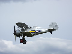 Gloster Gladiator (ramridgedave) Tags: old flying display aircraft air flight warden shuttleworth gladiator gloster