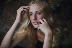 Helena. (nataliefongphotography) Tags: portrait girl canon dark hawaii model dream blonde freckles conceptual nataliefong
