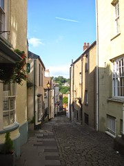 Hocker Hill Street (Dave Roberts3) Tags: street old houses light lamp wales buildings inn shadows pavement shade cobbles chepstow monmouthshire coth citrit coth5