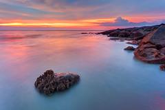 ... Pantai Bersih sunset (Keris Tuah) Tags: seascape color nature canon landscape scenery colorfull malaysia penang keris waterscape tuah keristuah