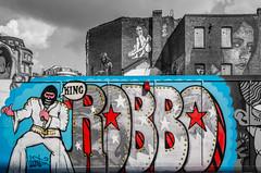 Robbo - by Discreet (Suggsy69) Tags: colour london art graffiti nikon king shoreditch tribute selective robbo discreet d5200