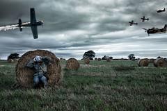 Nobody really wins!! (nigel176) Tags: portrait selfportrait field composite war surreal jersey gasmask channelislands aeroplanes airraid canon5dmkiii nigel176 allmyownstockimages