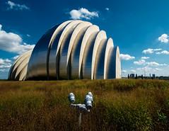Kauffman Center (brent flanders) Tags: sky architecture clouds nikon performingarts mo kansascity missouri kc stainless d7000 kauffmancenter nikond7000 nikon1024mmf3545gedafsdxnikkorwideanglezoomlens 1year2go