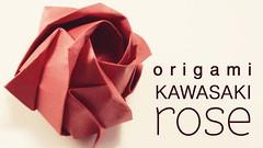 Origami - Kawasaki Rose (paperkawaii) Tags: cute make paper japanese diy origami pretty craft gift howto kawaii instructions fold tutorial folding papercraft