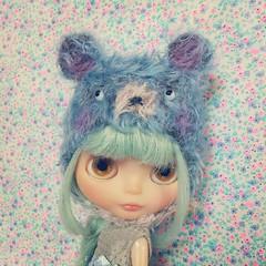 flyffy helmet #Dollymix #Blythe #helmet #mohair #msr #cute