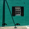 Wall art (halifaxlight (back in April)) Tags: street shadow black green window wall square hamilton sunny sidewalk shutters bermuda theperfectphotographer