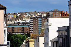 View of Brighton (lentil_curry) Tags: street city houses england urban brighton view rooftops streetlife scene