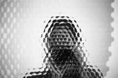 the many (ja nina) Tags: berlin museum mirror blackwhite canona1 analogphotography refelction filmkodak