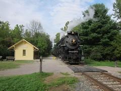 765 Indigo Lake II (Fan-T) Tags: road lake lima scenic engine indigo railway plate steam valley cuyahoga nickel 2014 nkp 765 cvsr steaminthevalley 765afternoon