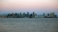 Nightfall in San Diego (JB by the Sea) Tags: california sunset skyline evening sandiego harborisland august2014