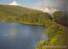 Loch Eilt and the Jacobite (omairkha) Tags: uk trees train scotland highlands harrypotter steam loch jacobite locamotive eilt