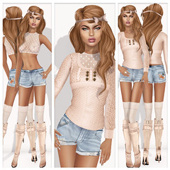 {Indyra} Chele' poster (indyra_seigo) Tags: urban sexy vintage hair french outfit mesh top knit retro wear clothes jeans rings secondlife ready denim to shorts accessories jewlery exile gypsy halter fallfashion chele chablis casuals slink slfashion indyraoriginals indyra indyraseigo indyco coquettenoirshoes augustineboots themeshproject