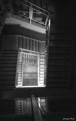 Hospital stairway (www.lucegrafia.com/html/portfolioGiuseppe.html) Tags: architecture hospital la geometry stairway 1600 contax step g1 scala sicily hp5 palermo architettura sicilia giuseppe geometria buccheri ospedale gradini hilford ferla stanfa