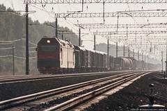 2ES6-313 (alexcashman801) Tags: railroad morning sun 20d electric train canon eos smog day railway sunny canoneos20d locomotive freight transsib smoggy sinara rzd canonef100300mmf4556usm 2es6 2es6313