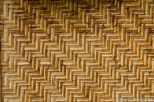 Bamboe muur