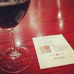 Plum and cherry cola wine at SFO.
