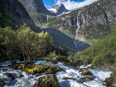 Briksdal Waterfall (K r y s) Tags: norway sognogfjordane