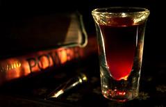 Vampire Nightcap (Tau Zero) Tags: macro blood power vampire shotglass onlyloversleftalive