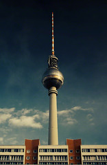 Fernsehturm, Alexanderplatz,Berlin, Germany. (2c..) Tags: city sky colour berlin tower 20d composition canon germany tv europe © landmark images getty fernsehturm 2c
