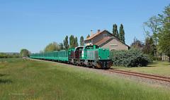 G1206 1146+G1206 1545, SJY - CT, MA100 n°539301, St Jean de Rives, 20-04-2014 (vincent.francesconi) Tags: train fret g1206 régiorail