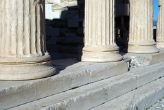East porch column bases, the Erechtheion