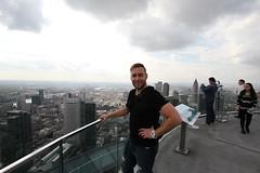 Ontop of a skyskraper in Frankfurt!