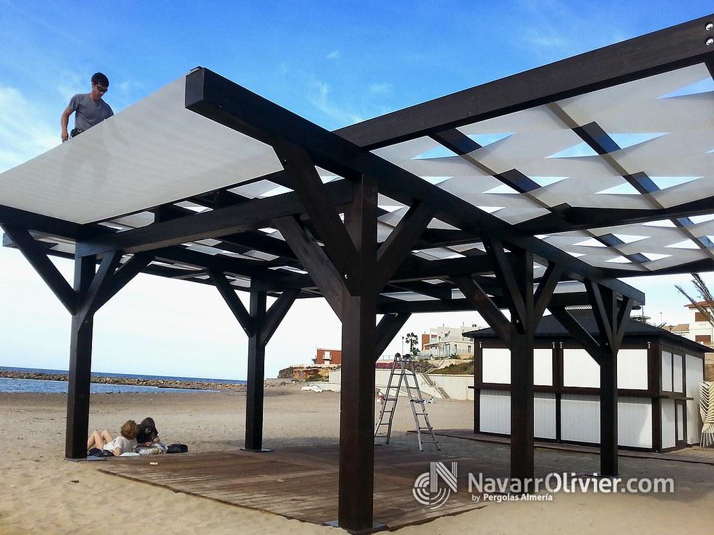 The world 39 s newest photos of playa and xiringuito flickr - Pergolas de madera fotos ...