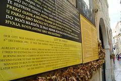 Say NO to WAR. We'll never forget! (jimmylau12) Tags: travel heritage war europe sony croatia balkans dubrovnik adriatic nationalgeographic dalmatia