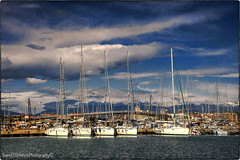 Pescara (ivano.dortenzio) Tags: blue sea italy clouds boats nikon seascapes hdr d90