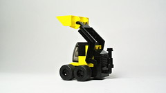 Skid-steer loader (MOC) (hajdekr) Tags: toy lego vehicle loader excavator frontendloader skidloader skidsteer