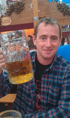 Nideng with his German pint!
